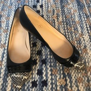 Ivanka Trump Black Leather Carmen Flats